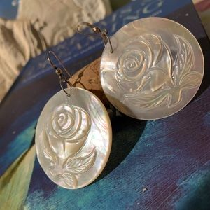 Authentic Mother of Pearl Earrings